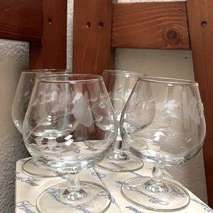 Princess House Brandy Glassware